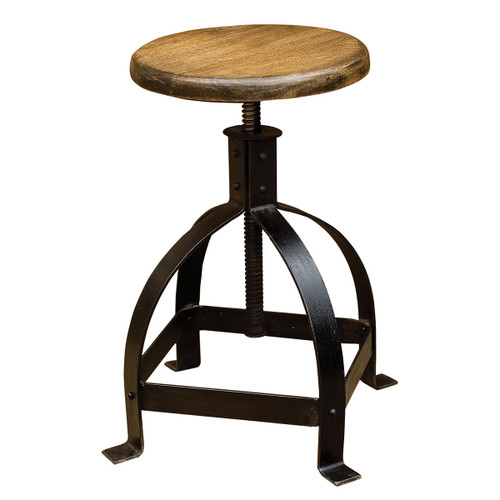 Industrial Adjustable Cage Stool  sc 1 st  Zin Home & Toledo Gunmetal Adjustable Industrial Bar Stool | Zin Home islam-shia.org