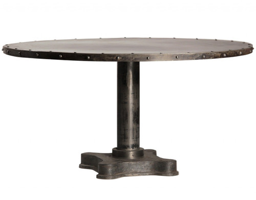 """Industrial 60"""" Round Dining Table"""