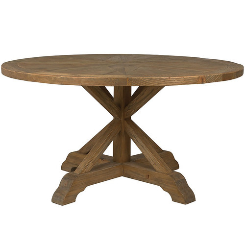 Reclaimed Wood Round Table: Opio Reclaimed Wood Round Dining Table 60""