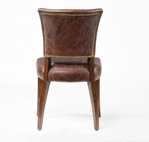 ... Mimi Biker Tan Leather Dining Room Chairs ...