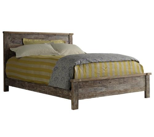 Hampton Rustic Teak Wood King Bed Frame Zin Home