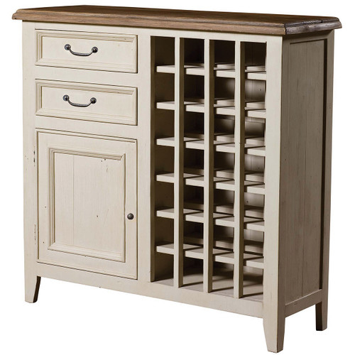 Cottage Reclaimed Wood Wine Cabinet-White | Zin Home
