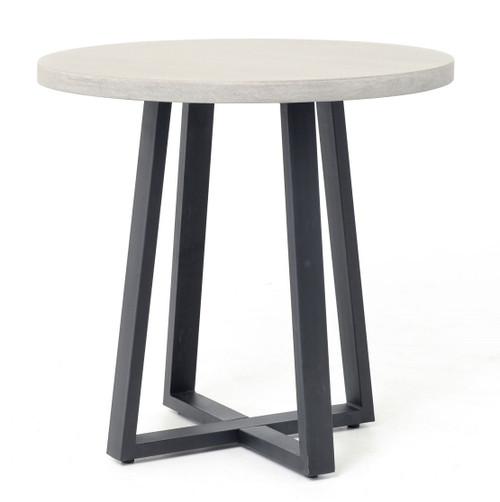 "Masonry Concrete 32"" Bistro Round Dining Table"