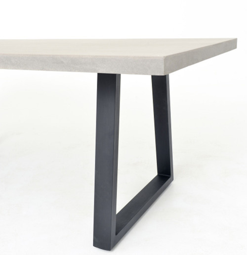 "Masonry Concrete 79"" Dining Room Table"