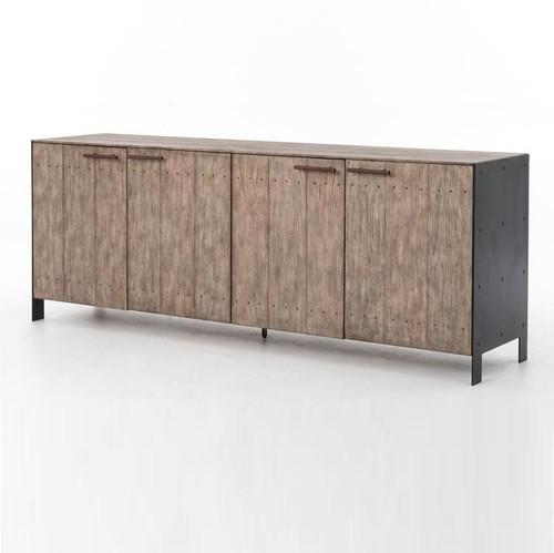 Dom Driftwood + Metal 4 Door Buffet Sideboard