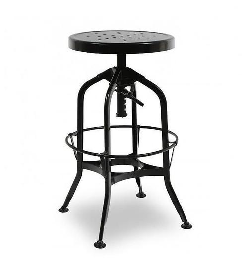 Toledo Industrial adjustable bar stool  sc 1 st  Zin Home & Toledo Gunmetal Adjustable Industrial Bar Stool   Zin Home islam-shia.org