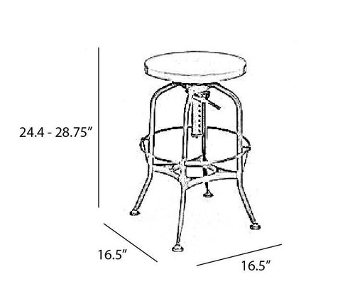 ... Toledo Industrial adjustable bar stools ...  sc 1 st  Zin Home & Toledo Gunmetal Adjustable Industrial Bar Stool | Zin Home islam-shia.org