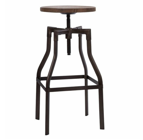 Adjustable wood and metal bar stools  sc 1 st  Zin Home & Industrial Rustic Wood and Metal Bar Stool | Zin Home islam-shia.org
