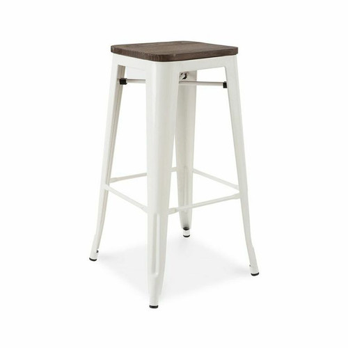 French Industrial Wood and Metal Bar Stools (Set of 4)  sc 1 st  Zin Home & Industrial Gear Bar Stool | Zin Home islam-shia.org