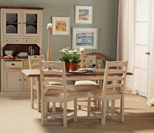 Cottage White Extendable Dining Room Table 71\