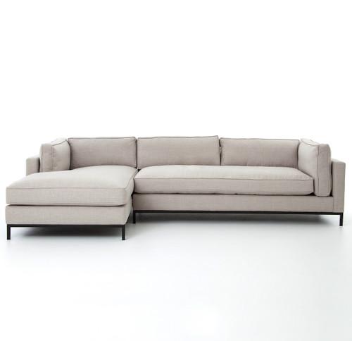 ... modern sectional sofas in white linen ...  sc 1 st  Zin Home : linen sectional sofa - Sectionals, Sofas & Couches