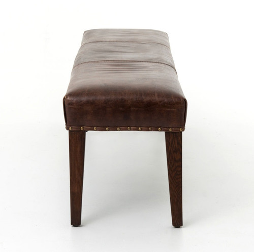 ... Brown Leather Dining Bench ...
