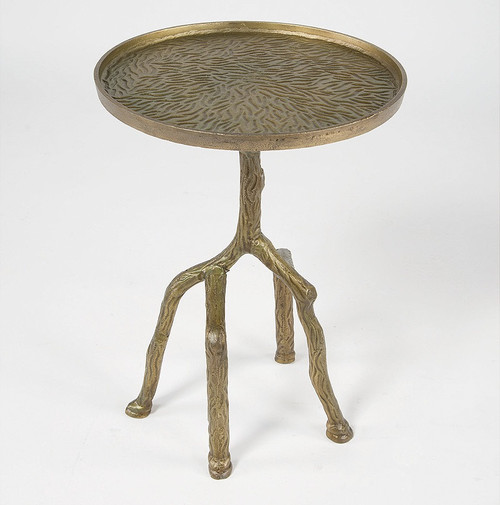 Marlow Tree Branch Side Table-Raw Bronze