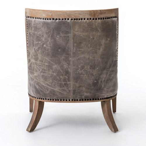 ... Kensington Monroe Slipper Chairs, Grey Leather ...