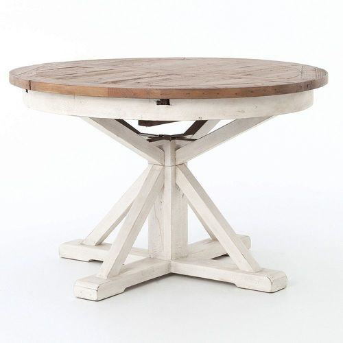 expandable round pedestal dining table