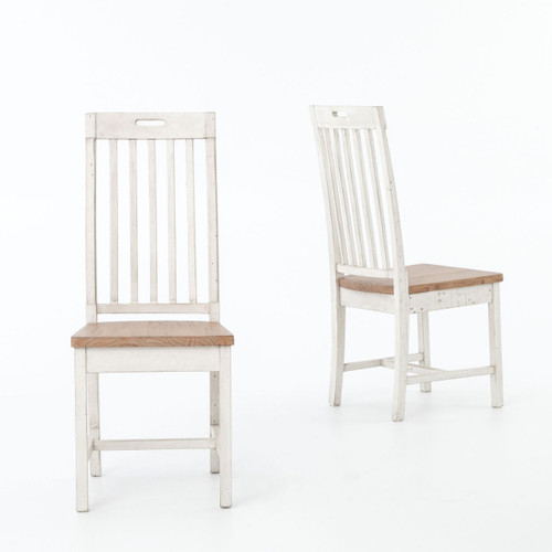 Superb ... Cintra Rustic White Wood Dining Room Chairs ...