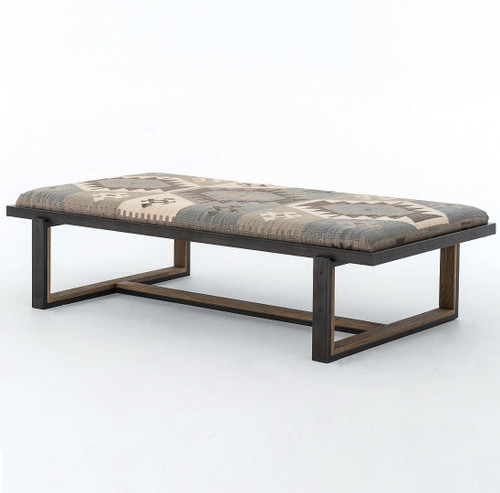 ... Zin Home Iron And Kilim Coffee Table Ottoman, House And Home ...