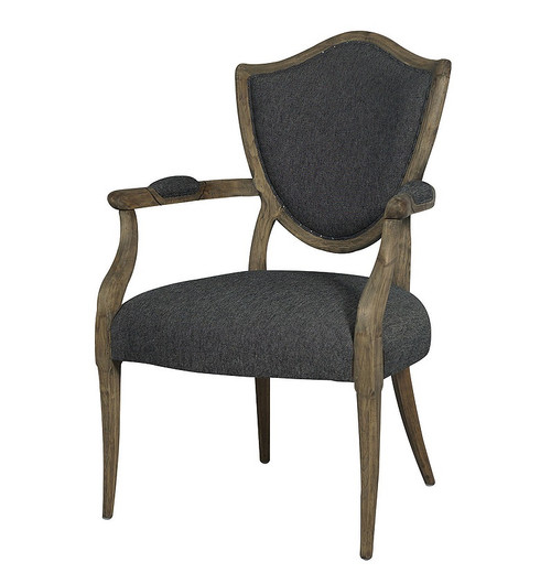 Lenny Weathered Oak French Bergere Dining Chair