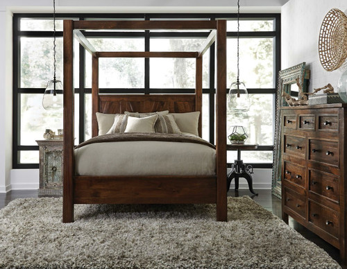 ... Frame; Anat Queen Solid Wood Canopy Beds