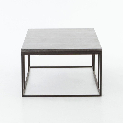 ... French Industrial Iron + Bluestone Top Coffee Tables ...