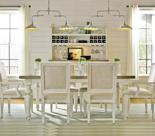 Country Chic Maple Wood White Extending Dining Room Tables   Driftwood. Country Chic Maple Wood White Extension Dining Table   Driftwood
