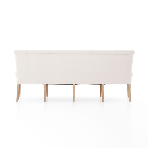 ... French Tufted White Dining Bench Banquettes ...