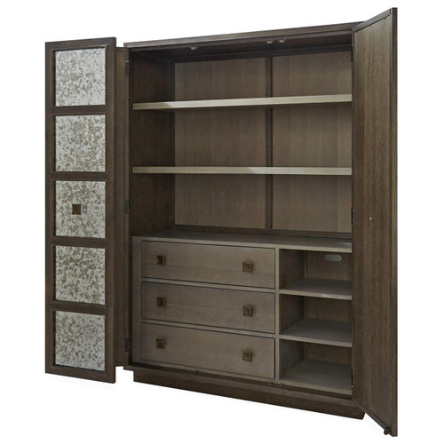 Playlist Antique Mirrored Armoire Wardrobe | Zin Home
