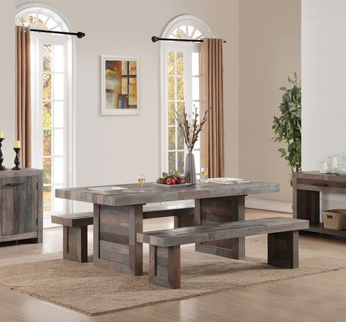 Angora Reclaimed Wood Trestle Dining Table 82\