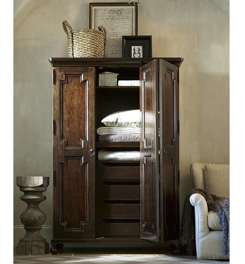 Proximity Cherry Wood 2 Door Keeping Cabinet Armoire