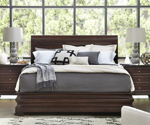 Proximity Cherry Wood King Size Sleigh Bed Zin Home