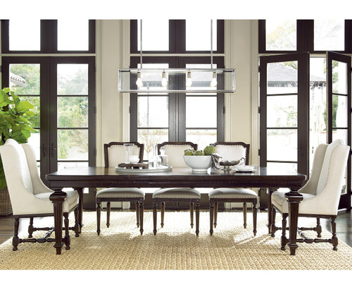 Proximity extending 9 piece dining room table set zin home for 9 pc dining room table sets
