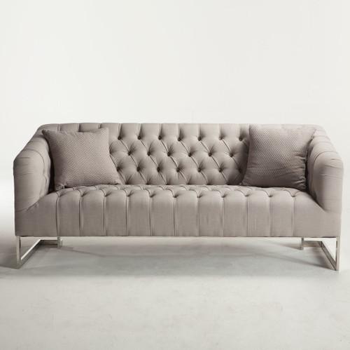 austin modern tufted sofa grey