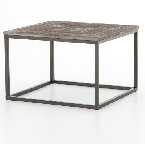 Deon Industrial Coffee Table: Linden Industrial Iron And Marble Top Console Table