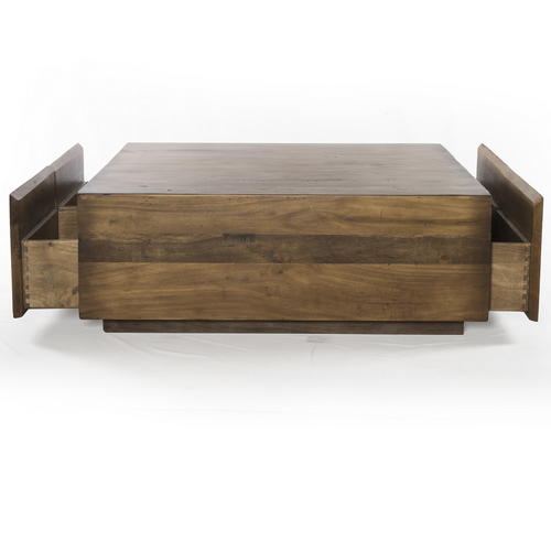 Duncan Reclaimed Wood Square Storage Coffee Table Zin Home