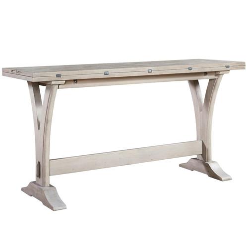 Belgian Cottage Flip Top Console Table - Antiqued White