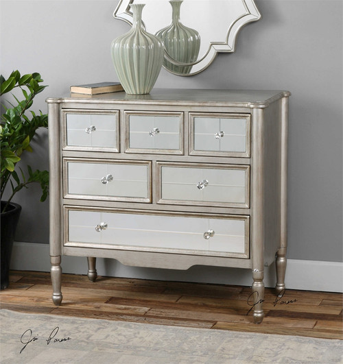 Rayvon Antiqued Silver Mirrored Accent Chest. Harkin Chinese Red Accent Chest   Zin Home