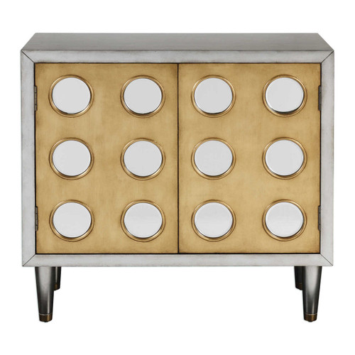 Bea Mid Century Modern Mirrored Wine Cabinet