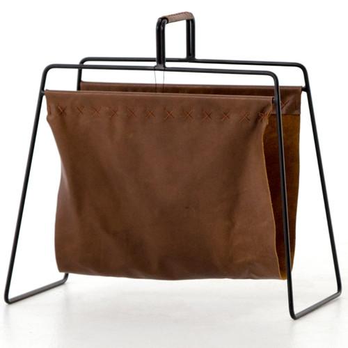 Aesop Brown Leather Magazine Rack