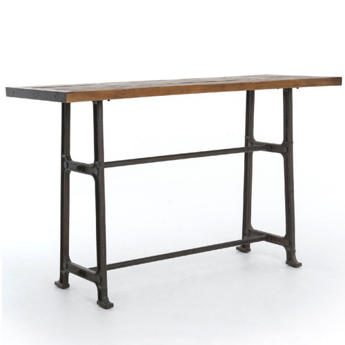 Alistair Industrial Iron Reclaimed Wood Top Pub Table 71. Eclectic  Modern Furniture   Rustic Reclaimed Wood Furniture   Zin