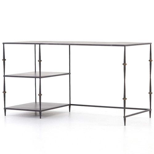 Art-Deco Penelope Black Iron Office Desk 55""