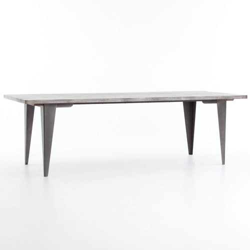 Cdi International Industrial Kitchen Cart With Mango Top: Industrial Mango Wood + Metal Dining Table