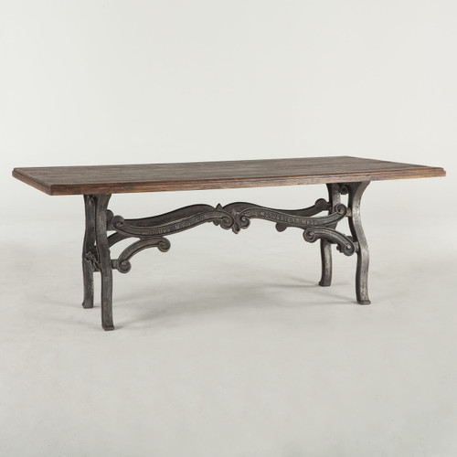 Hobbs French Industrial Dining Room Table 84. Barnwood Industrial Dining Room Table 86    Zin Home