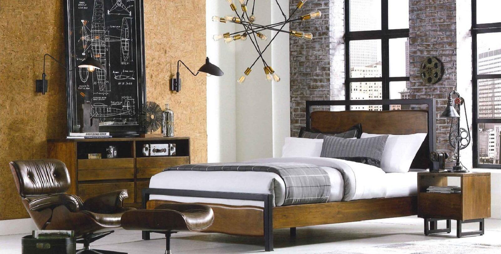 Industrial Loft Bedroom Furniture. Shop Now