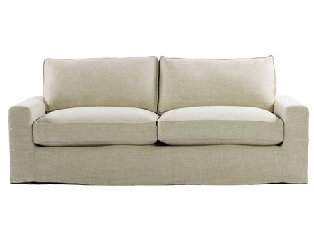 Casual 83 Quot Linen Upholstered Sofa Deep Comfortable Sofas