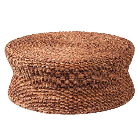 Lanai Round Coffee Table 38 Lanai Woven Round Coffee Table Ottoman Zin Home