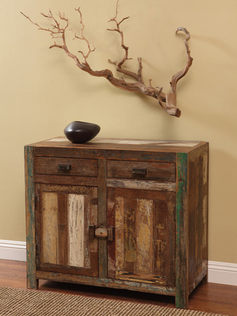 shabby chic small server buffet zin home. Black Bedroom Furniture Sets. Home Design Ideas