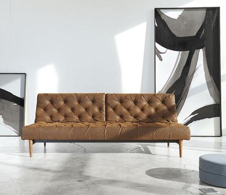 oldschool vintage leather chesterfield sofa bed zin home. Black Bedroom Furniture Sets. Home Design Ideas