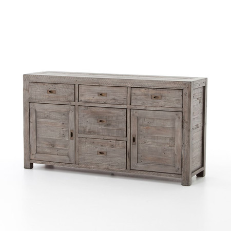 Parsons Reclaimed Wood Sideboard Buffet Grey Zin Home