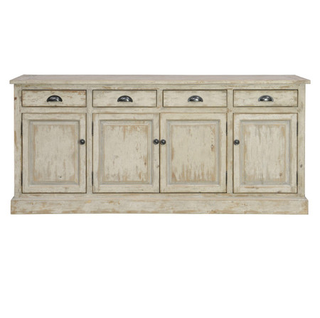 Chateau 4 Door 4 Drawers Buffet Sideboard Zin Home