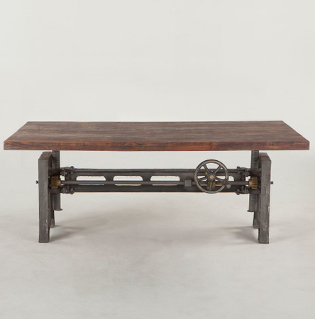 Steampunk Industrial Adjustable Coffee Table 53 Quot Zin Home